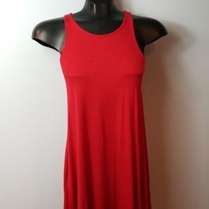 Lulus Tank Dress Red Short Key Hole Stretch Small